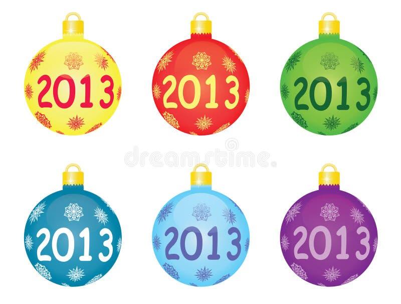 Christmas tree balls 2013 vector illustration
