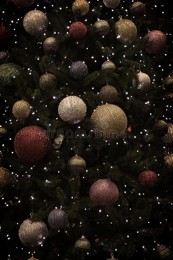 Christmas Tree Balls Background stock images