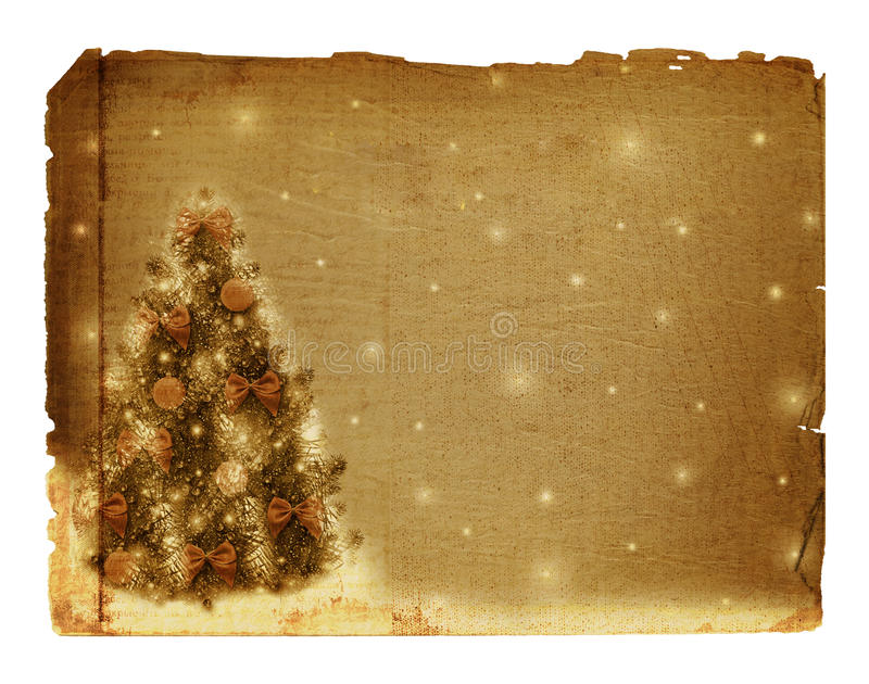Christmas Tree With Balls And Bows Stock Photography