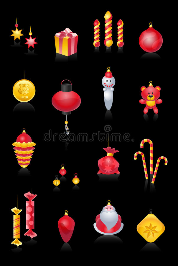 Christmas Tree Baubles stock images