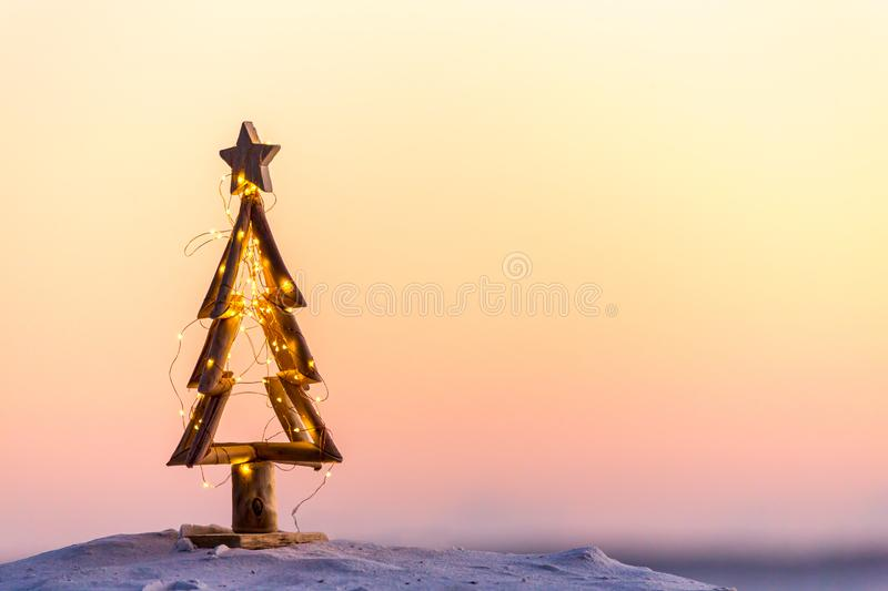 Christmas tree on the beach in Australia stock images