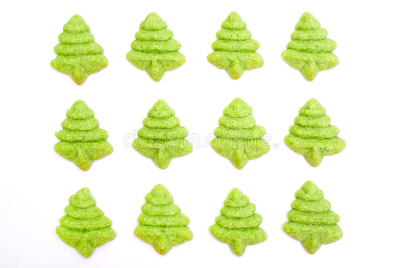 Download Christmas tree biscuits stock image. Image of brown, close - 25973999