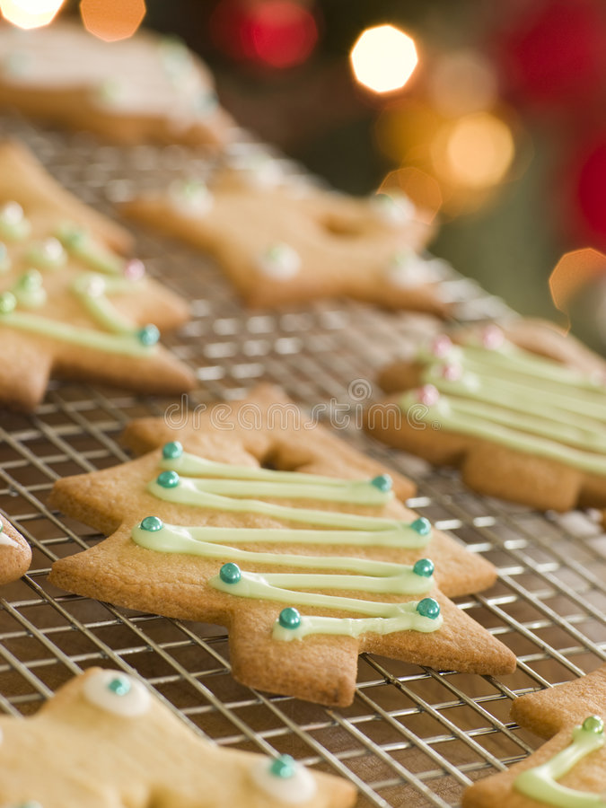 Download Christmas Tree Biscuits stock image. Image of short, holiday - 5606831