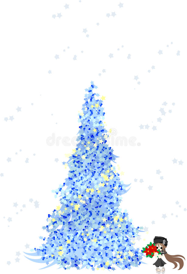 Download Christmas Tree -Blue- stock vector. Illustration of vector - 27420107