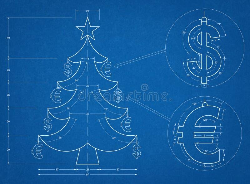 Christmas tree blueprint stock illustration illustration of download christmas tree blueprint stock illustration illustration of document 47617637 malvernweather Choice Image