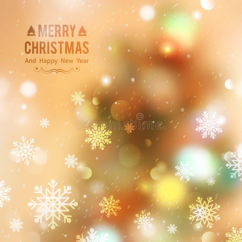 Christmas tree blurred royalty free illustration