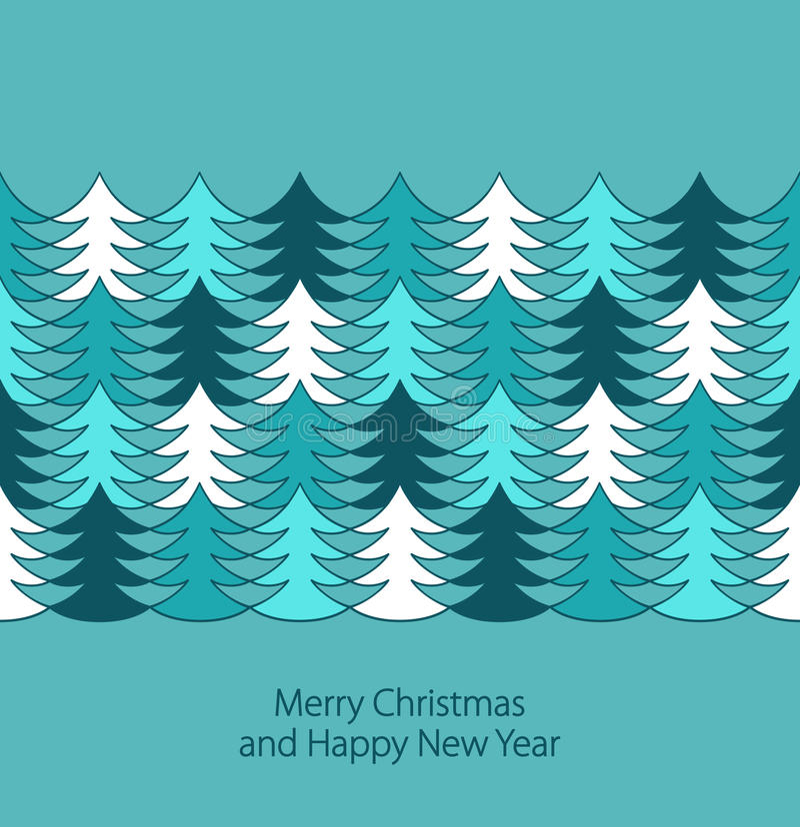 Download Christmas tree border stock vector. Image of border, blue - 27675556