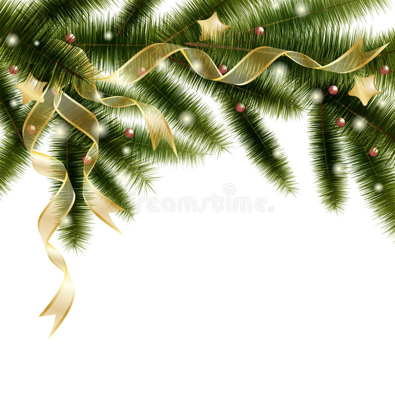 Christmas tree branch royalty free illustration