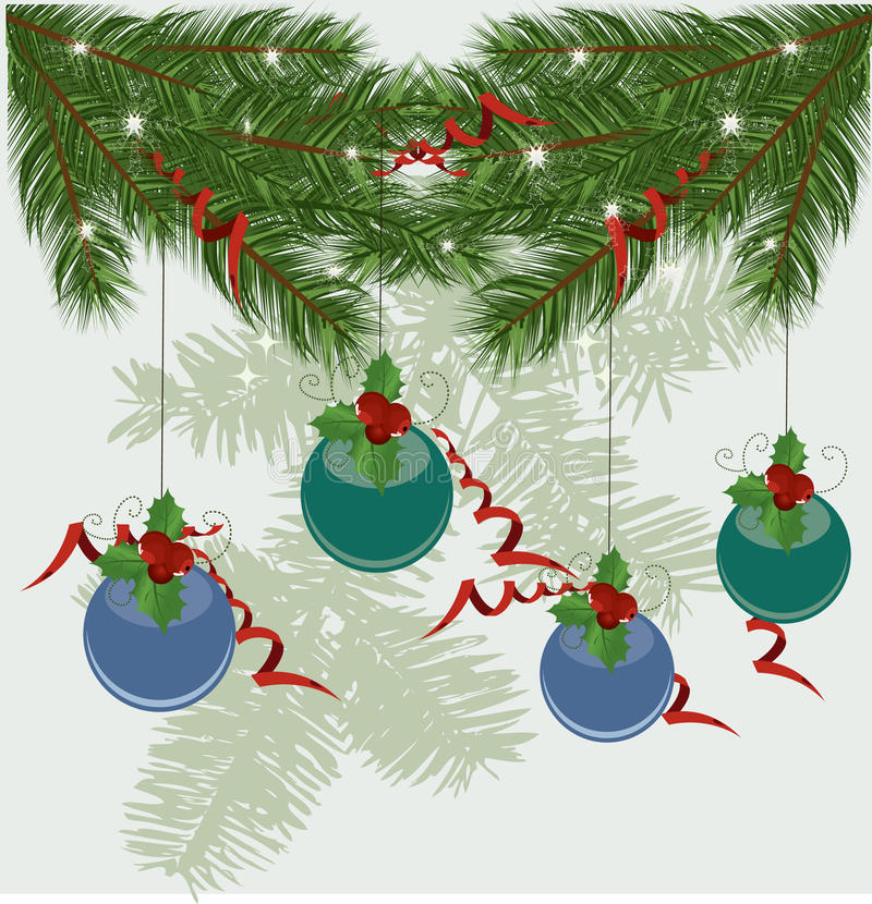 Christmas tree branches stock illustration