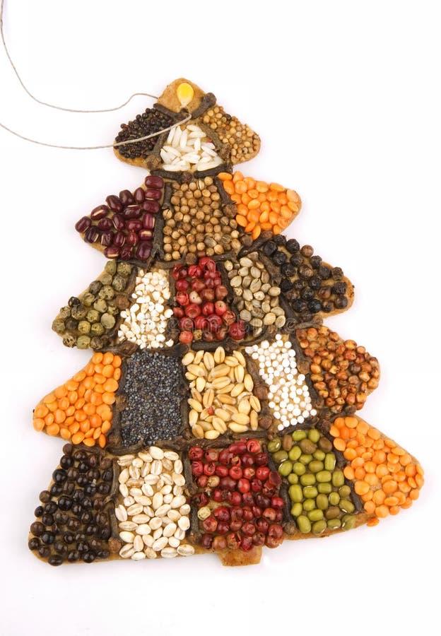 Christmas tree cake stock photo