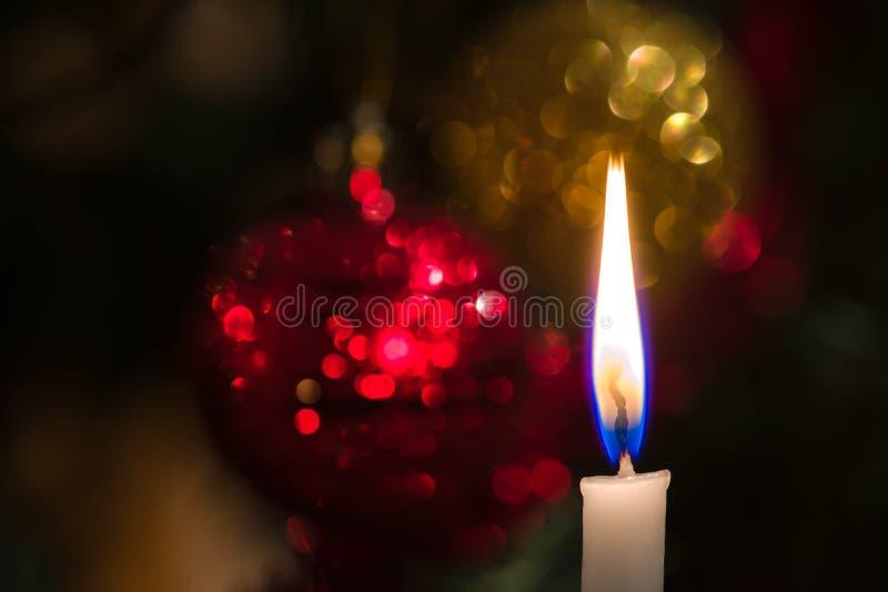 Christmas Tree Candle Stock Photo