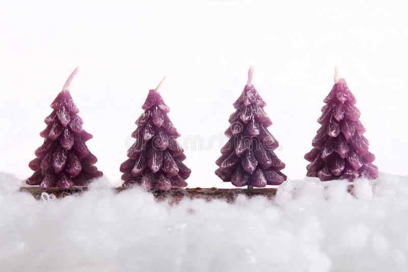 Download Christmas tree candles stock photo. Image of trees, white - 27972924