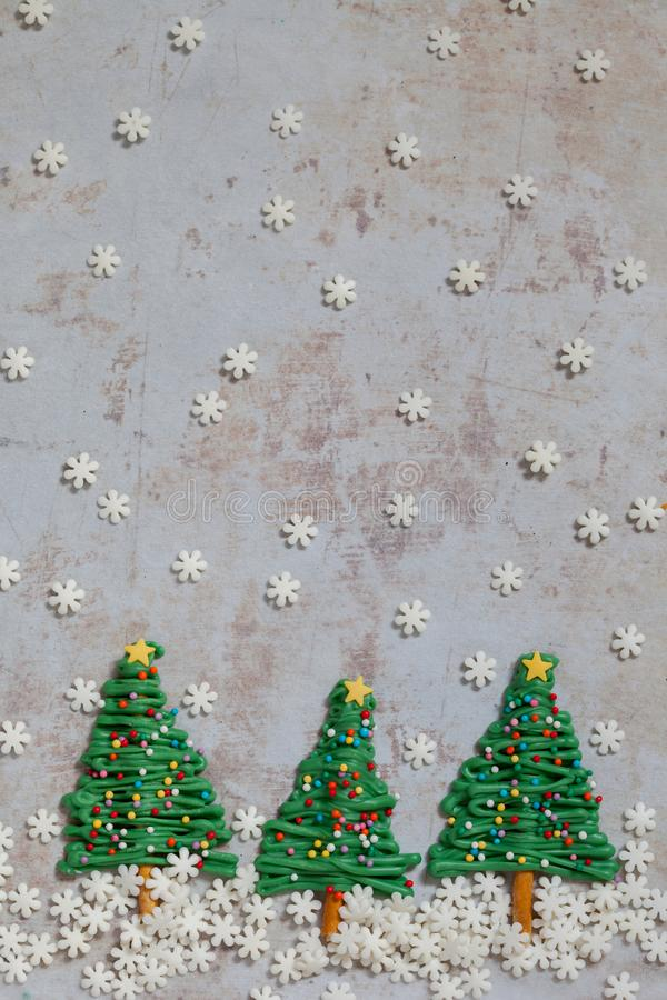 Christmas tree candy background stock image