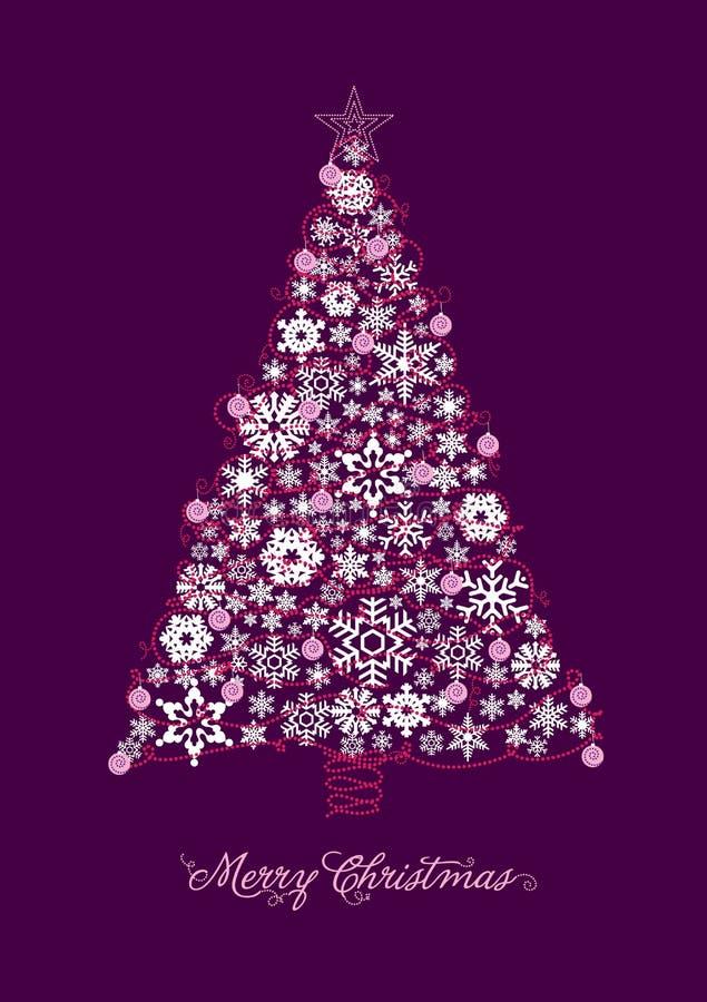 Download Christmas Tree Card stock illustration. Illustration of vector - 17020550