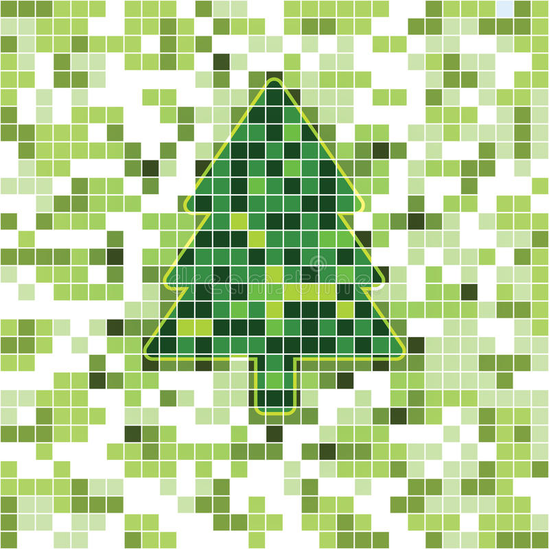 Download Christmas tree card stock vector. Image of illustration - 17272297