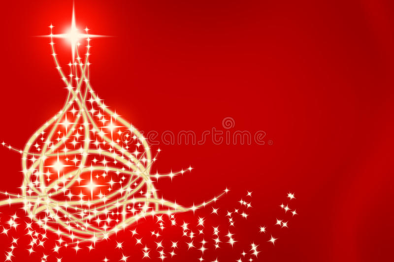 Christmas tree card 2 royalty free illustration