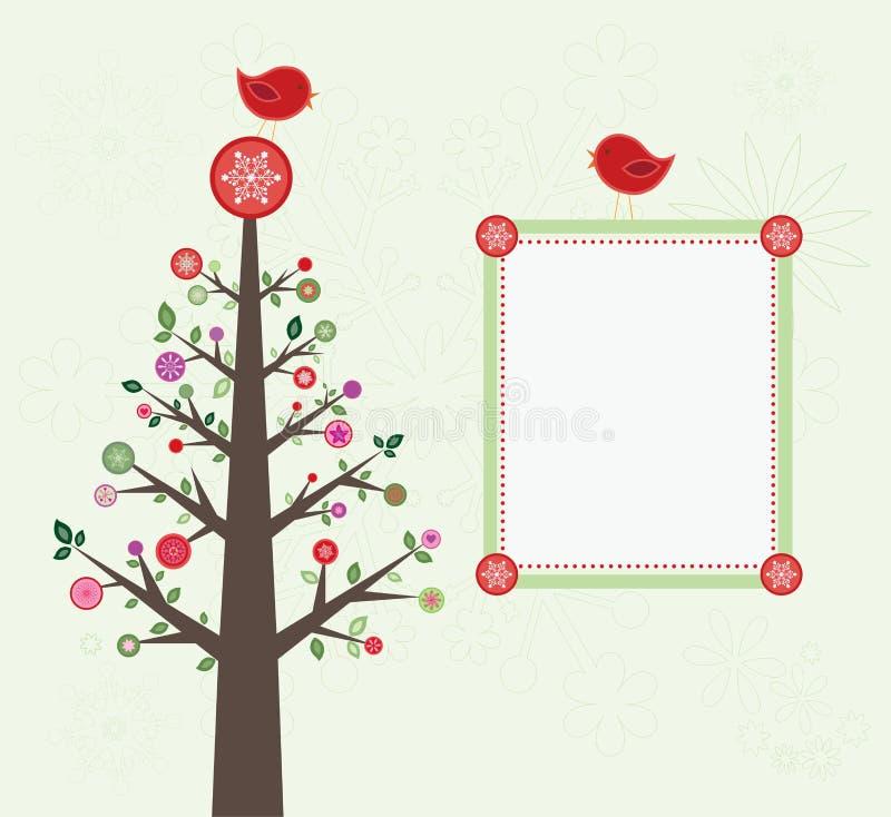 Download Christmas tree card stock vector. Image of snowflake - 22017501