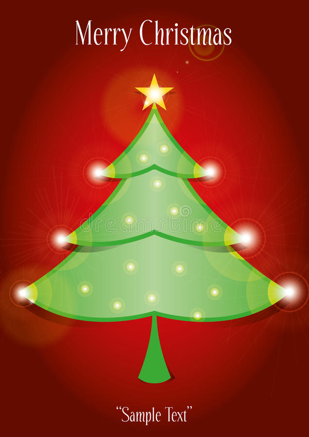 Download Christmas tree card stock illustration. Image of light - 27689590