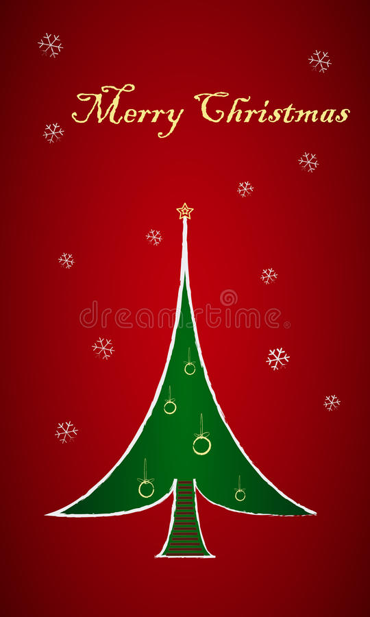 Download Christmas Tree Card 3 stock vector. Illustration of festive - 27354922