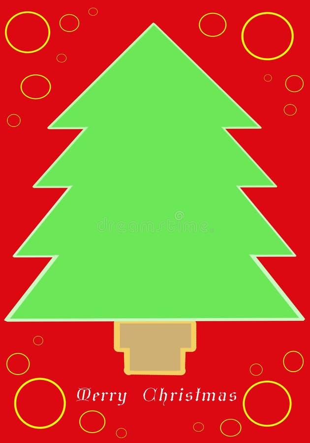 Download Christmas Tree Card stock illustration. Illustration of decorations - 7372629