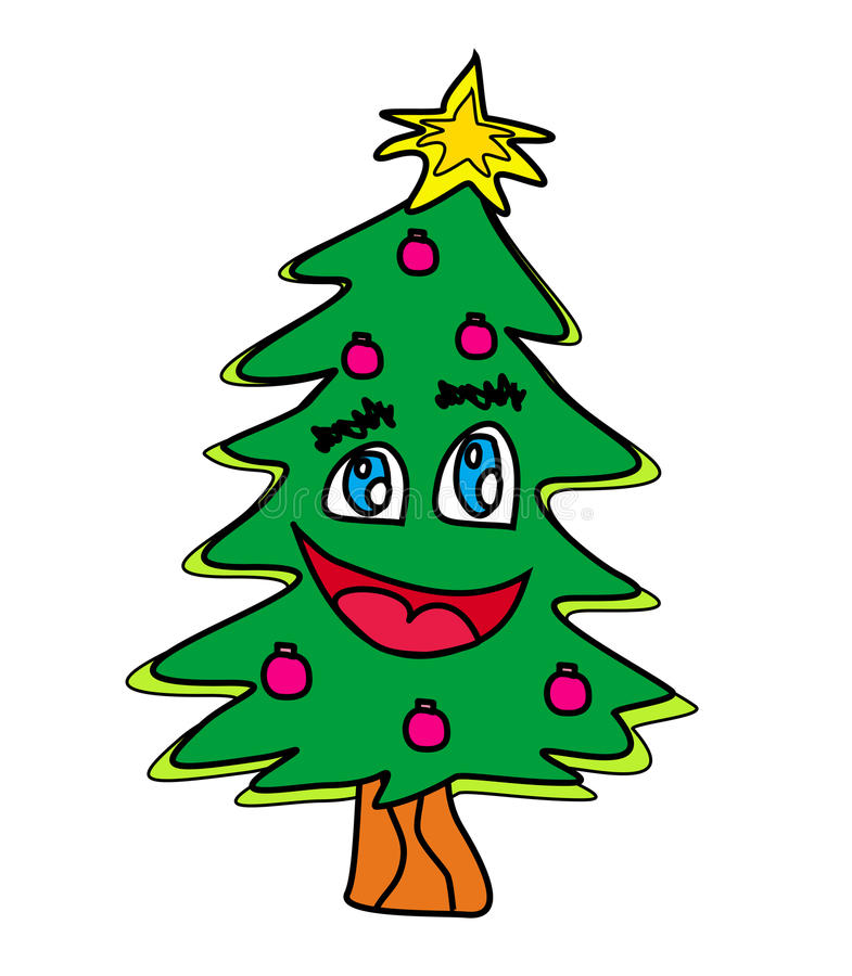 Download Christmas Tree Cartoon Character Stock Vector - Image: 27390522