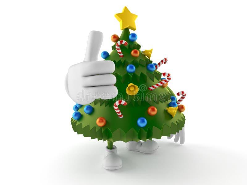 Thumbs Up Tree Character Cartoon Style Stock Vector