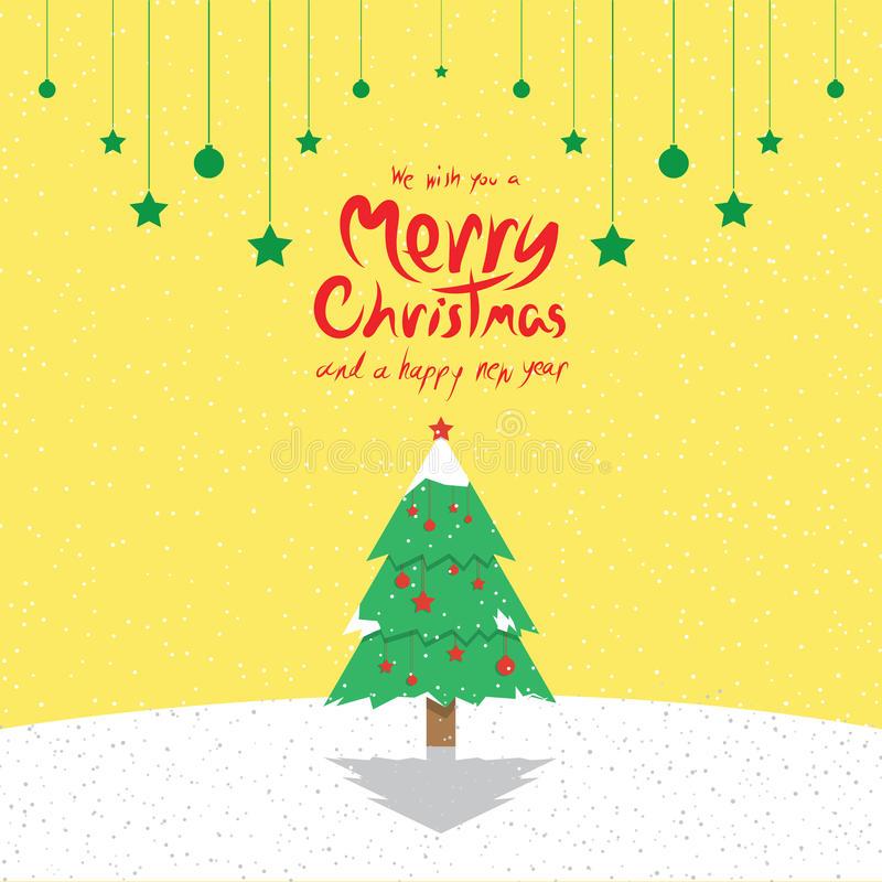 Christmas Tree (Christmas Cards) stock illustration