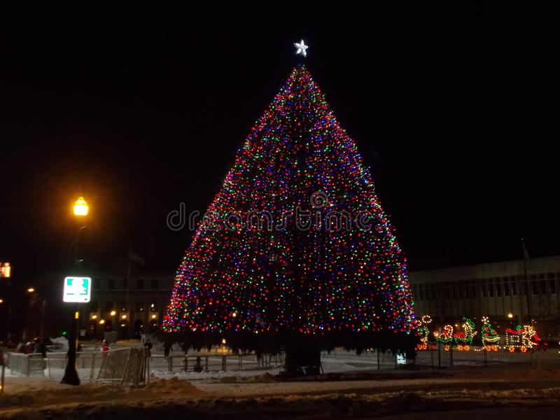The Christmas Tree at Clinton Square stock image