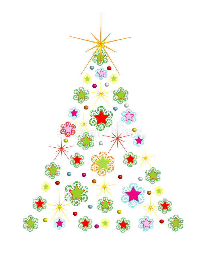 Download Christmas Holiday Tree With Comet,vector Stock Vector - Illustration of abstract, decoration: 35877021