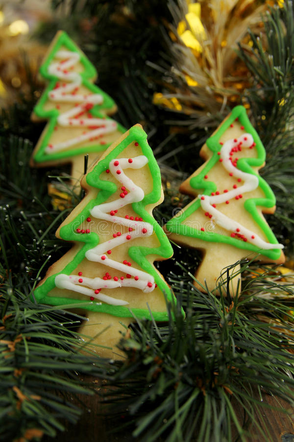 Download Christmas tree cookies stock photo. Image of balls, butter - 27897422