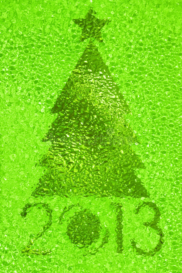 Download Christmas Tree Crystal Green Background Stock Photo - Image: 27980510