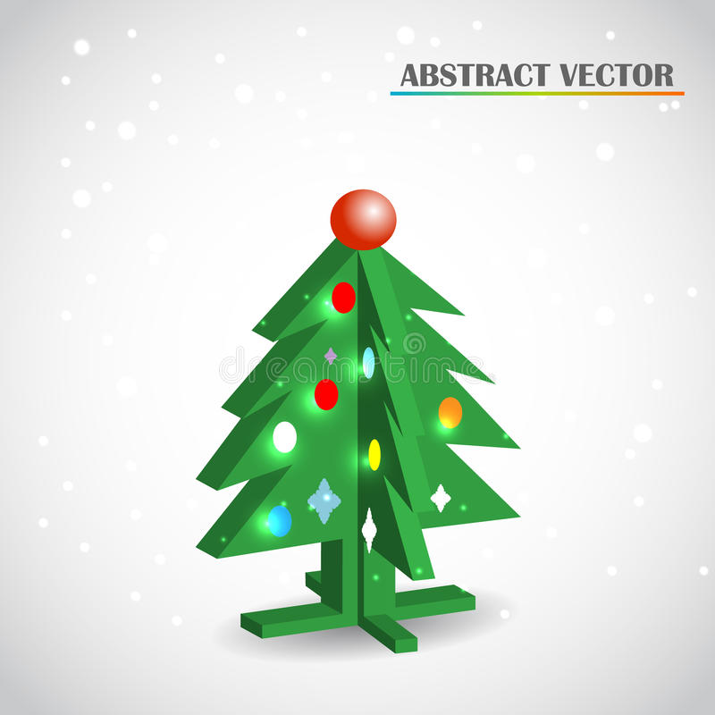 Download Christmas tree 3d vector stock vector. Image of candy - 34154202