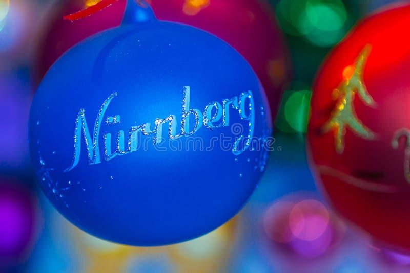 Christmas tree decoration-bouble Nuremberg (Nuernberg)-Germany stock photos