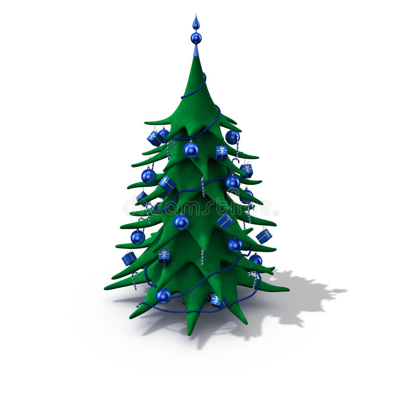 Download Christmas Tree Decorated Blue Stock Illustration - Image: 11902660