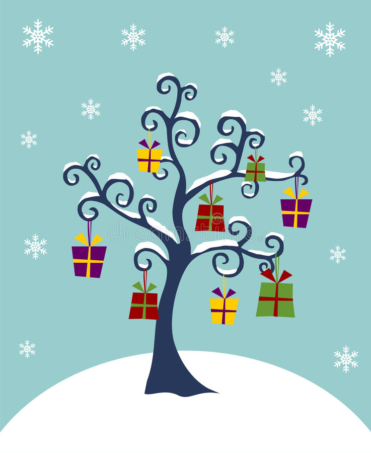 Download Christmas Tree Decorated With Gifts Stock Vector - Image: 11655354