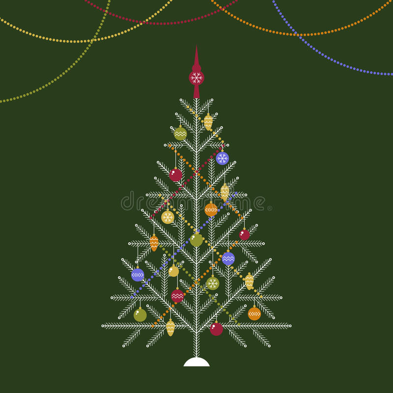 Download Christmas tree stock vector. Illustration of symbol, green - 42270851