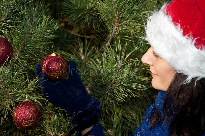 Download Christmas tree decorating stock image. Image of girl - 10928951