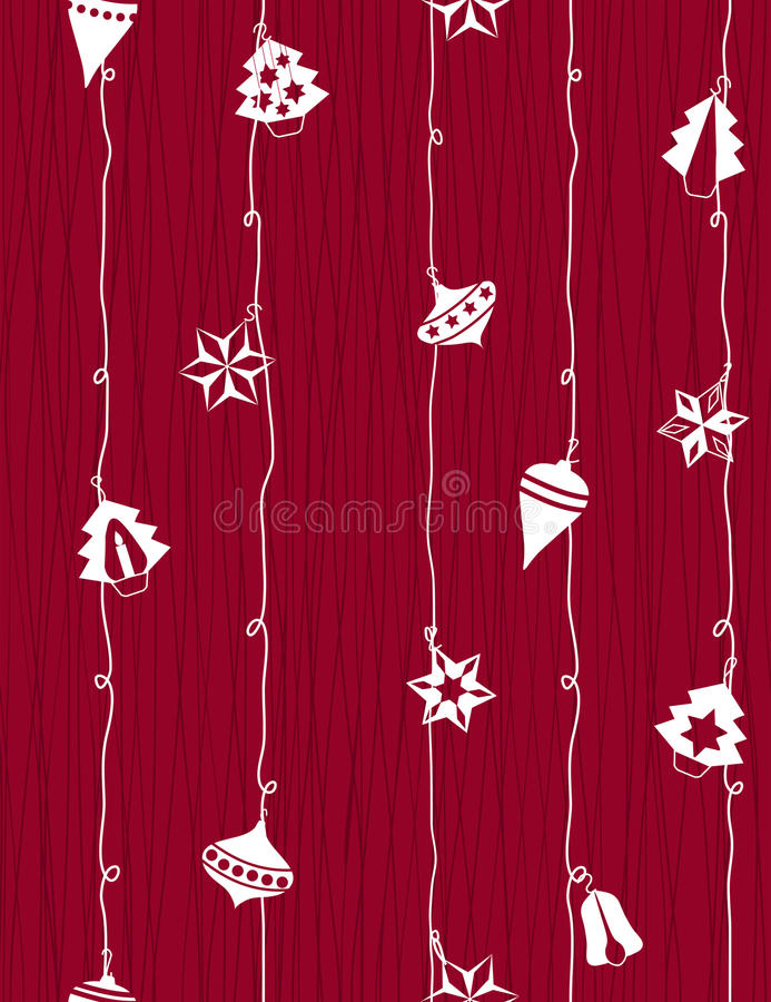 Christmas-tree decoration royalty free illustration