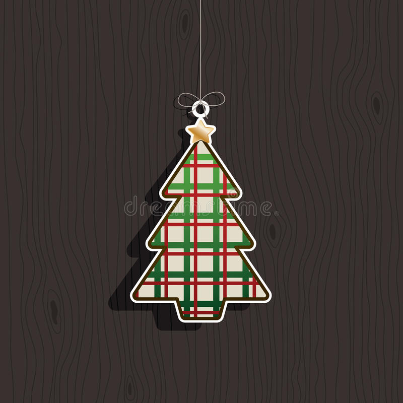 Christmas tree decoration vector illustration