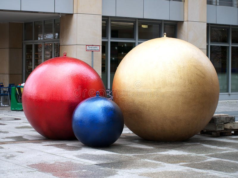Christmas-tree decoration balls royalty free stock photography