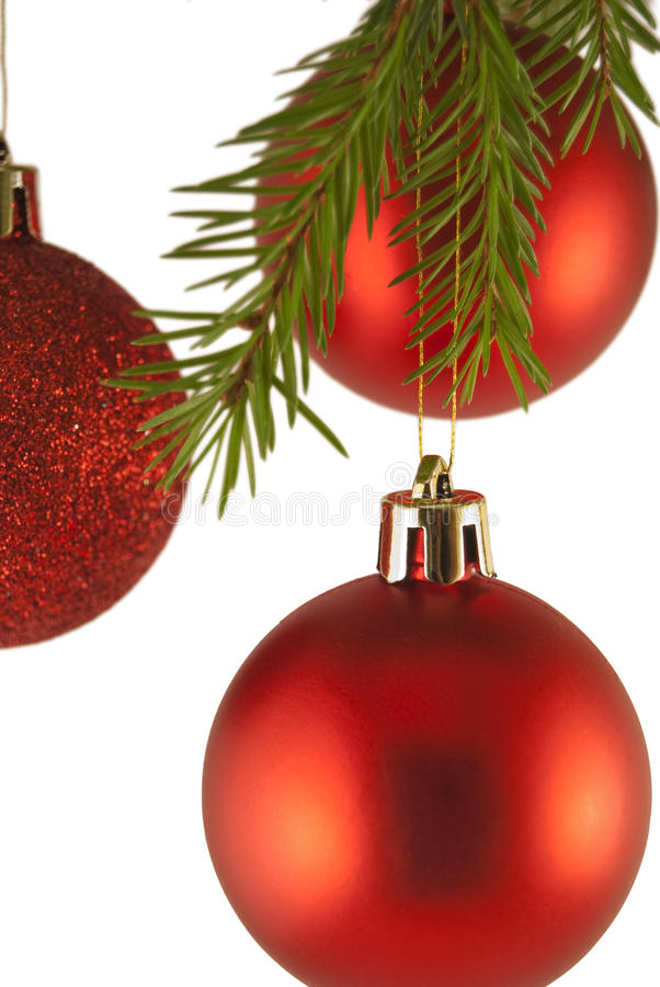 Christmas tree decoration Baubles royalty free stock photo
