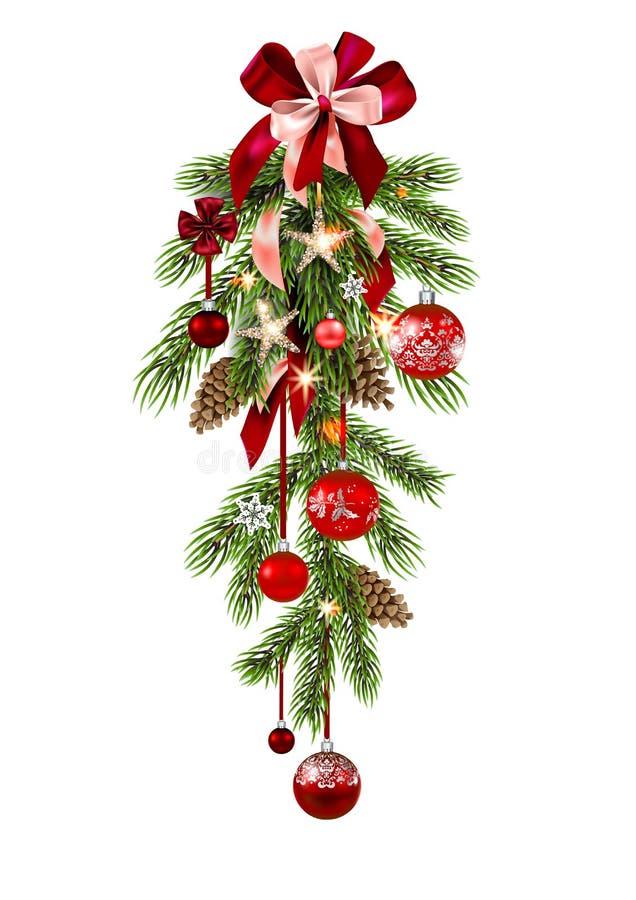 Christmas tree decoration vector illustration
