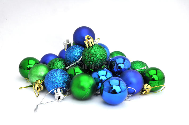 Christmas tree decoration, isolated. A heap of Christmas tree decoration elements royalty free stock photo