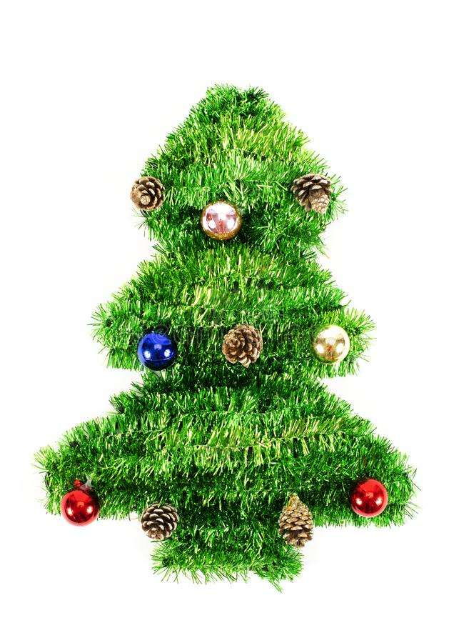 Christmas tree decoration Isolated on white backgrounds. Close up of Christmas tree decoration Isolated on white backgrounds royalty free stock photo