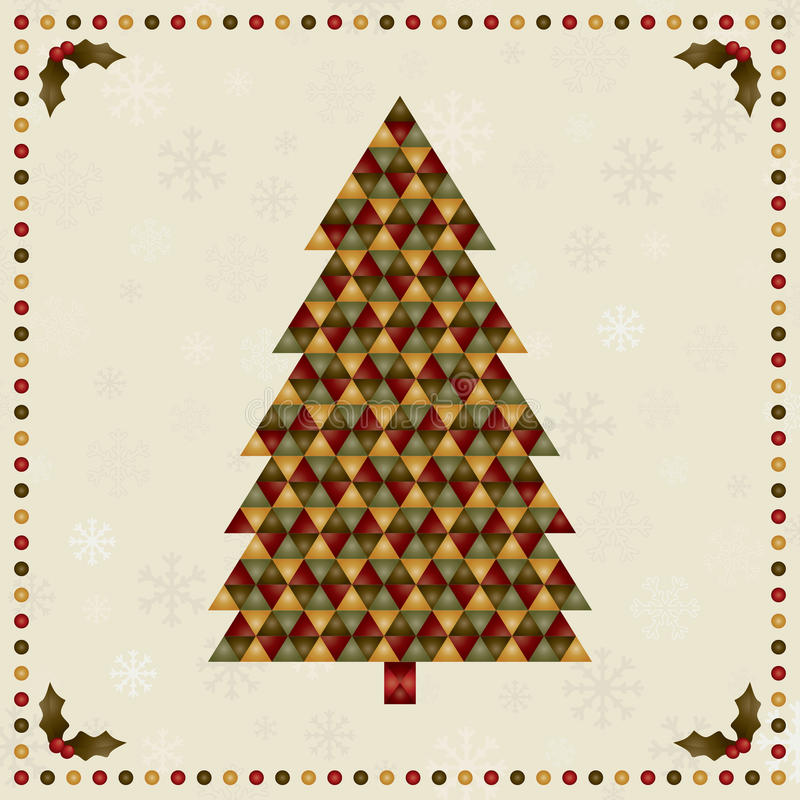 Christmas tree decoration royalty free illustration