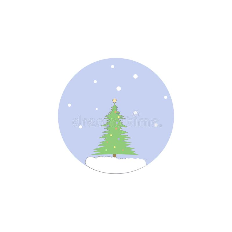 Christmas tree, decoration tree icon. Element of Christmas for mobile concept and web apps. Colored Christmas tree, decoration tre stock illustration