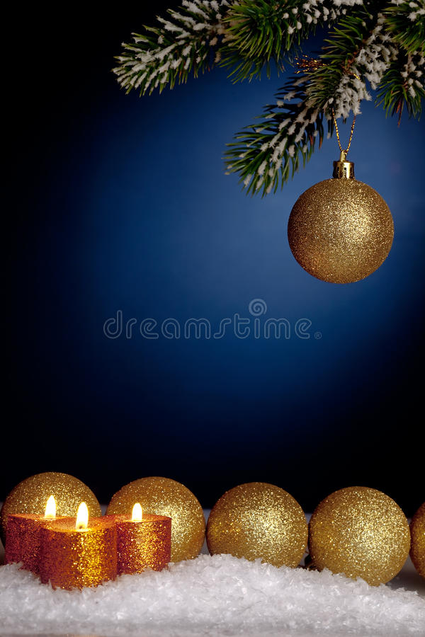 Download Christmas tree decorations stock photo. Image of fire - 20912910