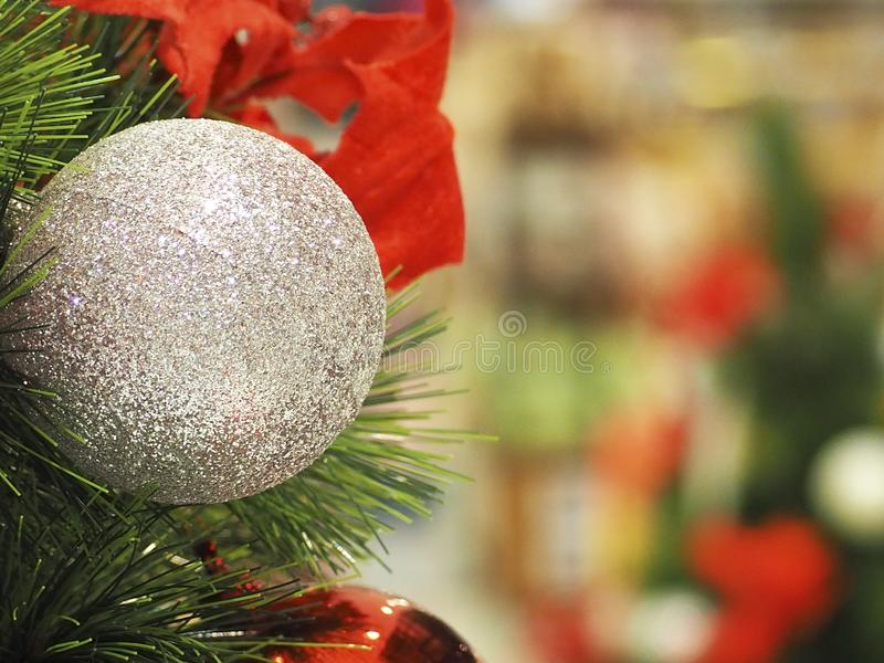 Christmas tree and Christmas decorations royalty free stock photos