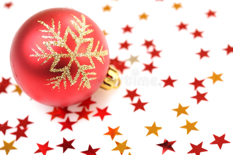 Christmas tree decorations bulb stock photo