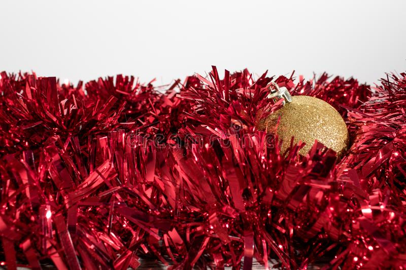 Christmas tree decorations, colorated balls in a whte b royalty free stock photography